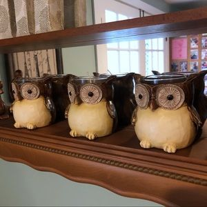 Yankee Candle 3 Owl Votive Candle Holders